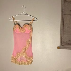 Frederick's Of Hollywood Lingerie Lace Bustier Top